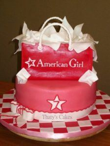 American girl birthday cake