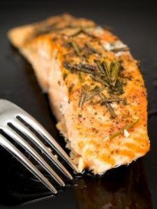 Broiled Rosemary Salmon