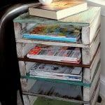 DIY Pallet Side Table and Magazine Holder