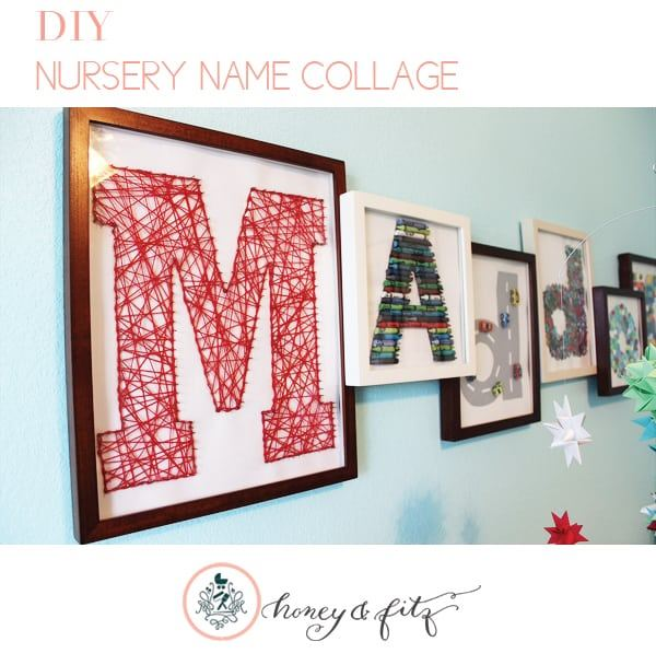 10 awesome do it yourself projects nursery name collage diy solutioingenieria Choice Image