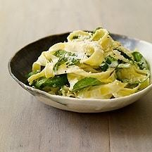 Tagliatelle with Arugula and Lemon Cream