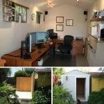 backyard shed turned home office diy