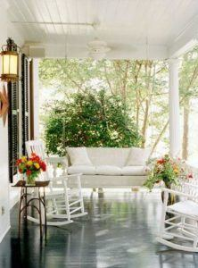 create seating area on front porch