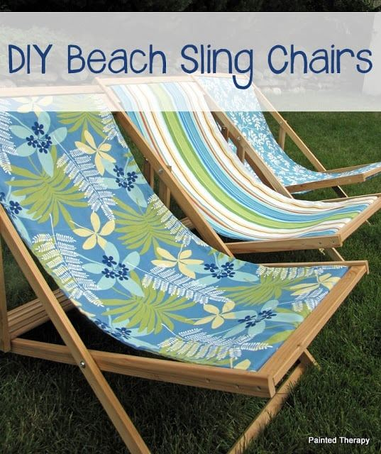 diy beach sling chairs