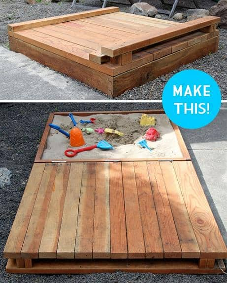 diy covered sandbox tutorial parts list
