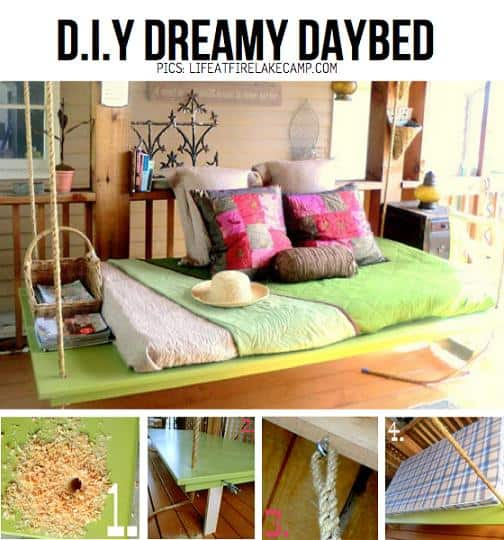 diy dreamy hanging day bed covered porch