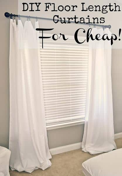 diy floor length curtains for cheap