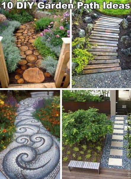 Diy garden ideas on a budget pdf for Garden path designs