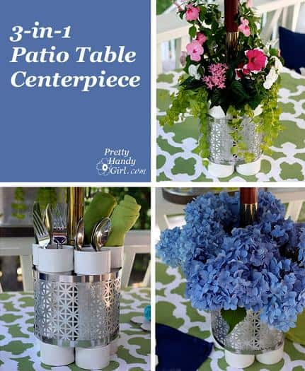 diy multi-functional patio table centerpiece