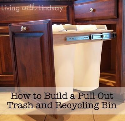 diy pull out trash and recycling bin