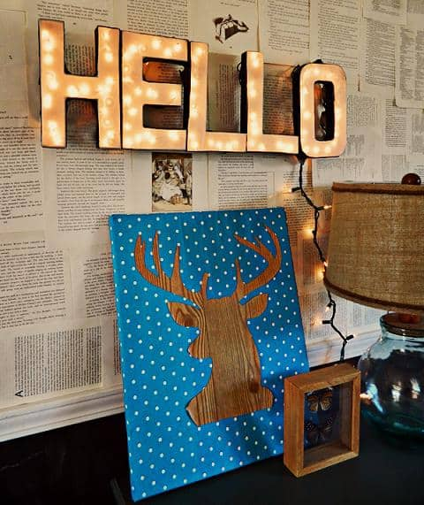 easy diy lighted letter sign