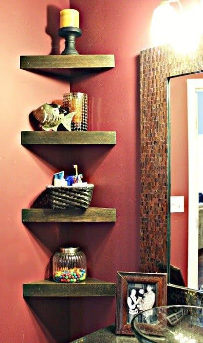 How To Build Cute Corner Shelves For Bathroom New Corner Shelves For Bathrooms