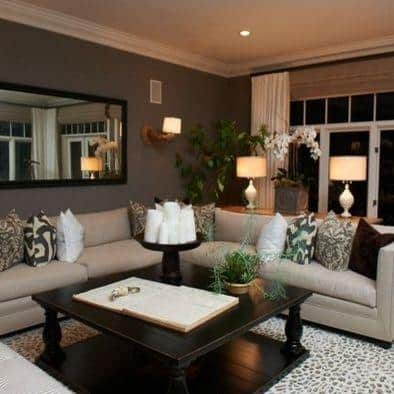 How to pick a brown paint color for living room for How to choose room color