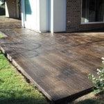 how to score and stain concrete to look like wood