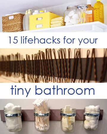 life hacks for your tiny bathroom