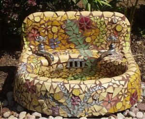 mosaic sink fountain