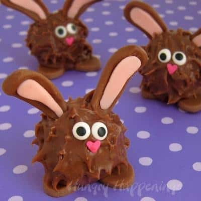 peanut butter fudge bunnies