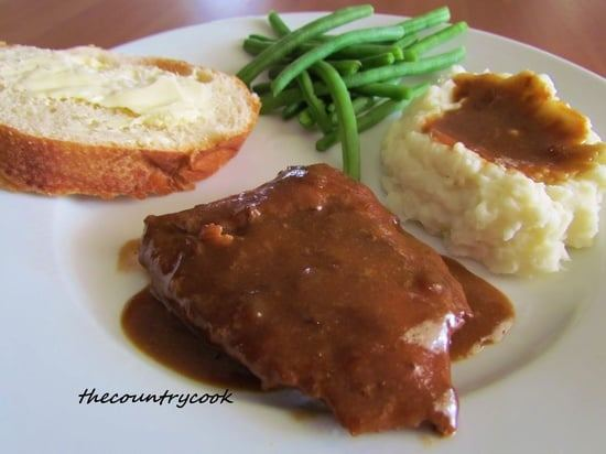 slow cooker cube steak with gravy recipe