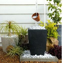 Two Tiered Planter Fountain