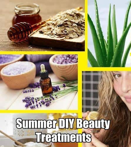 6 diy beauty summer treatments