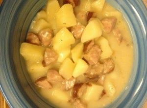 Crockpot Kielbasa Potato Soup recipe