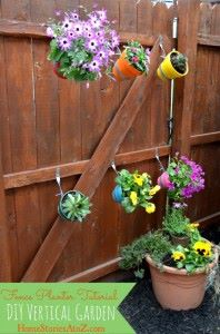 DIY Potted Vertical Garden