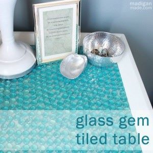Glass Gem Tile Table
