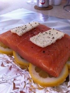 Lemon Salmon Tin Foil Dinner