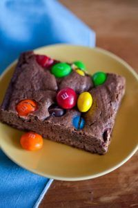 M&M Peanut Butter Brownies