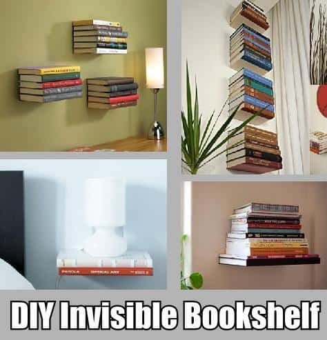 Diy invisible bookshelf diy home decorating 2017 04 23 19 10 How to make an invisible bookshelf