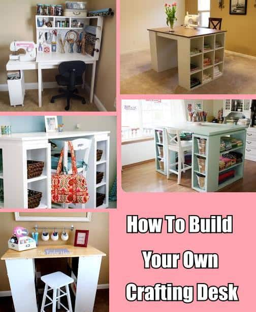 How to build your own crafting desk diy cozy home for Constructing your own home