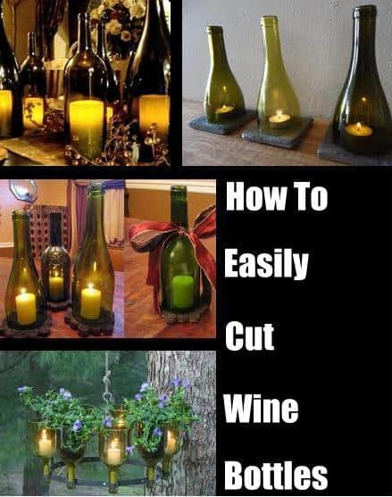 how to easily cut the bottom off a wine bottle diy cozy home