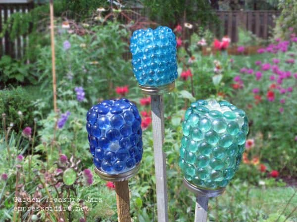 garden treasure jars craft diy cozy home