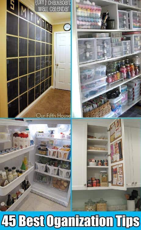 45 best household organization tips tricks