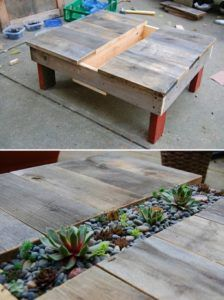 Planter Pallet Table