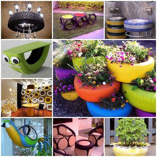 awesome ways to recycle old tires into home