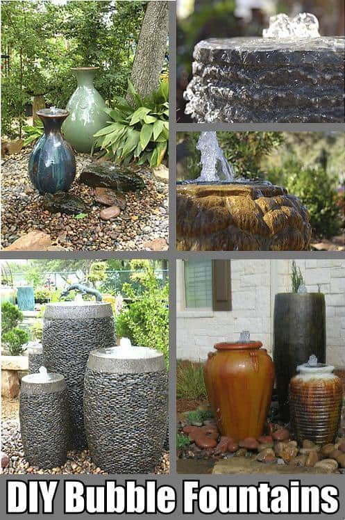 diy bubble fountains plans