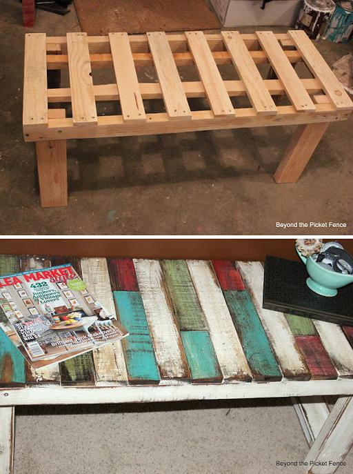 diy pallet bench idea