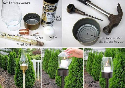 diy tuna can candle lantern