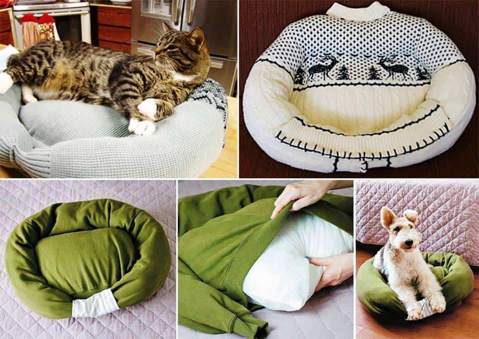 homemade cat or dog bed