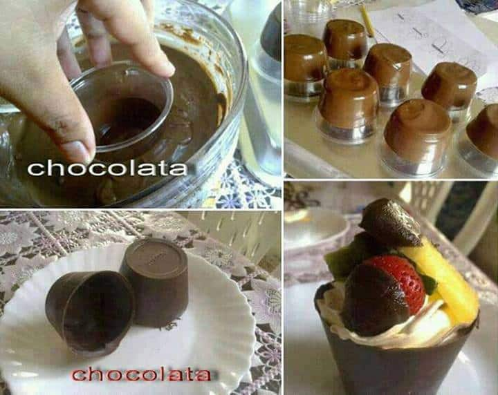 melted chocolate cups mold