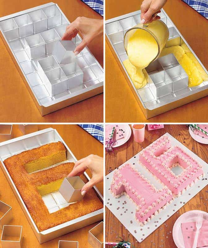 adjustable cake pan letters numbers