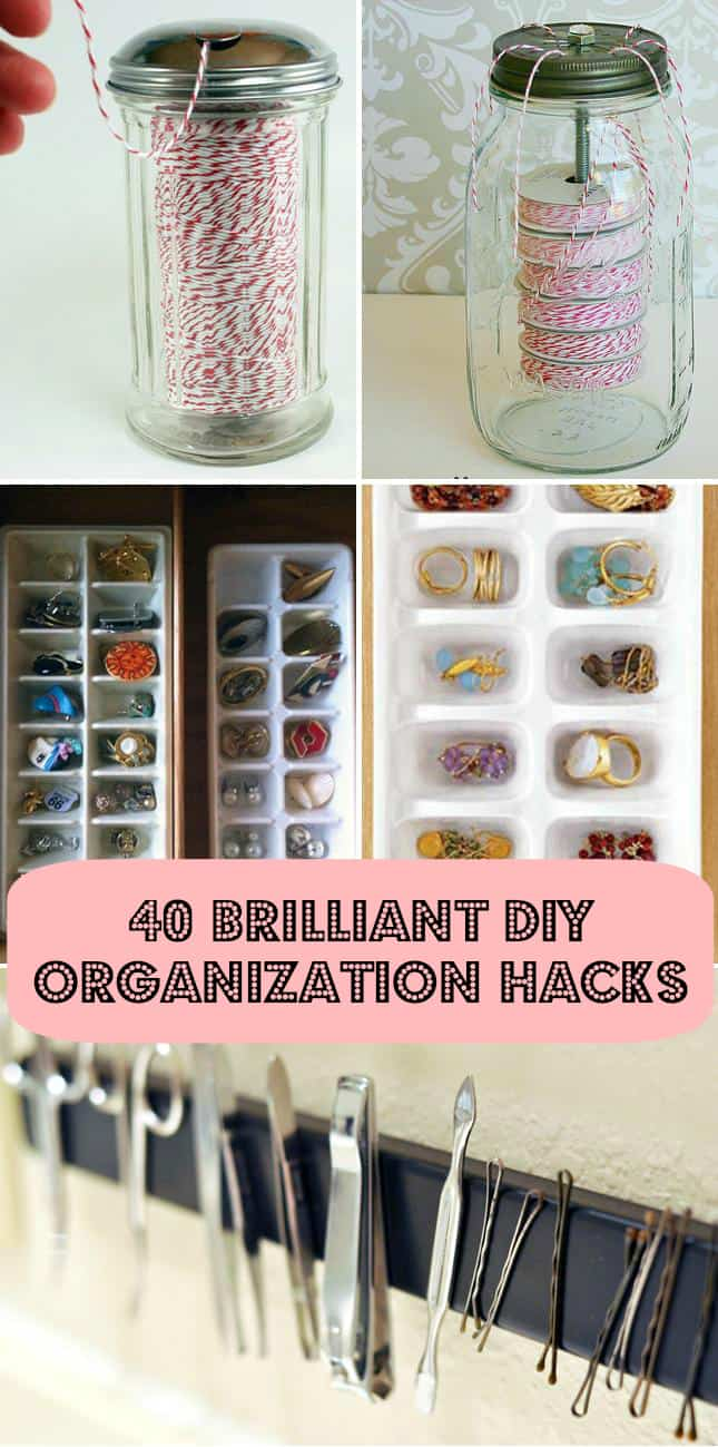 diy organization hacks