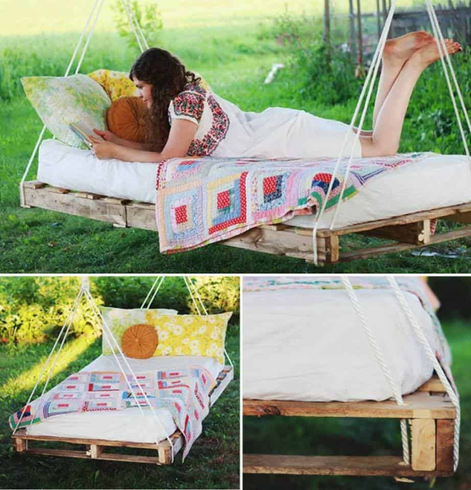 hanging pallet bed diy cozy home
