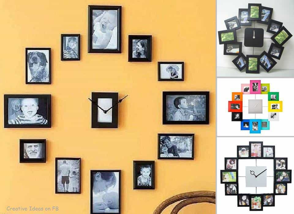Photo Collage Clock Project | DIY Cozy Home