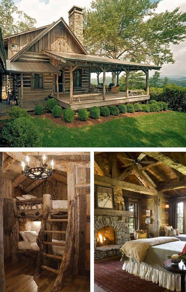 Rustic Log Cabin Living Diy Cozy Home