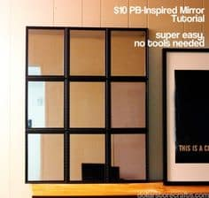 pottery barn inspired mirror