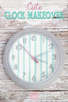 cute clock makeover