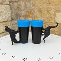 party cup animal handles