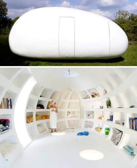 egg shaped tiny home